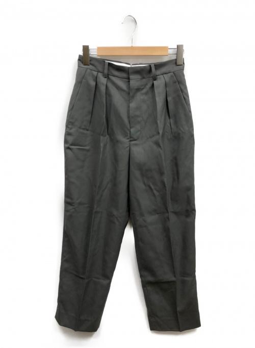 YLEVE(イレーヴ)YLEVE (イレーヴ) ウールトロピカルトラウザーズ グレー サイズ:Sの古着・服飾アイテム