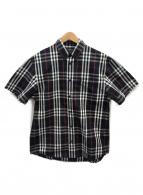 BURBERRY ×  Gosha Rubchinski(バーバリー × ゴーシャ ラブチンスキー)の古着「ノヴァチェックシャツ」|ネイビー