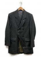 TOGA PULLA(トーガプルラ)の古着「サキソニーウールダブルジャケット」|グレー