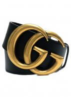 GUCCI(グッチ)の古着「ダブルGGベルト」|ブラック
