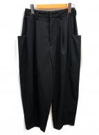 Dulcamara(ドゥルカマラ)の古着「よそいきテーパードパンツ」|ブラック
