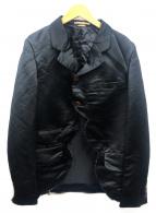 COMME des GARCONS HommePlus(コムデギャルソンオムプリュス)の古着「ポリ縮変形ジャケット」|ブラック