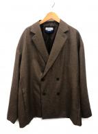 MAISON SPECIAL(メゾンスペシャル)の古着「ストレッチプライムオーバーダブルジャケット」|ブラウン