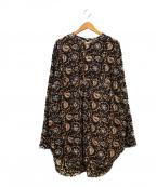 YSTRDYS TMRRW(イエスタディズトゥモロー)の古着「シルクロードファブリッククルーンシャツ」 ブラック