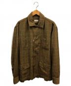 Salvatore Piccolo(サルヴァトーレ・ピッコロ)の古着「ワークシャツジャケット」 ブラウン