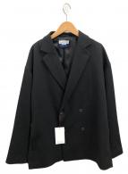 MAISON SPECIAL(メゾンスペシャル)の古着「コンパクト2WAYストレッチプライムオーバーダブルジャケット」|ブラック