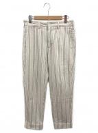 Engineered Garments(エンジニアードガーメンツ)の古着「ストライプパンツ」 ベージュ