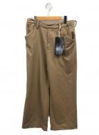 SUNSEA(サンシー)の古着「ナイスマテリアルブッシュドストレートパンツ」|ベージュ