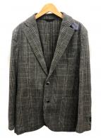 L.B.M.1911(エルビーエム1911)の古着「エルボーパッチグレンチェックジャケット」 グレー