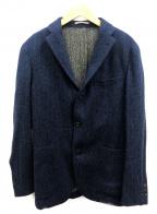 BOGLIOLI(ボリオリ)の古着「ヘリンボーンツイード3Bジャケット」 ネイビー