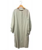 UNITED TOKYO(ユナイテッドトウキョウ)の古着「ダブルクロスラウンドネックコート」|アイボリー