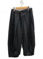 GROUND Y(グラウンドワイ)の古着「ギャバジンハカマパンツ」|ブラック
