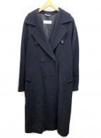MaxMara(マックスマーラ)の古着「カシミヤ混ショールカラーダブルコート」|ネイビー