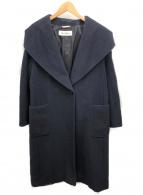 MaxMara(マックスマーラ)の古着「カシミヤ混フーデットコート」|ネイビー