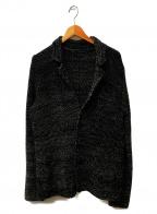 ROBERTO COLLINA(ロベルトコリーナ)の古着「ツイードニットジャケット」 ブラック
