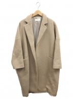 ARGUE(アギュー)の古着「アルパカチェスターコート」|ベージュ