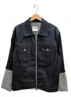 HELMUT LANG(ヘルムートラング)の古着「オーバーサイズ ジップ デニムジャケット」|インディゴ