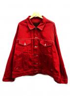 MR.GENTLEMAN(ミスタージェントルマン)の古着「デニムジャケット」 レッド