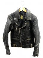 666(シックスシックスシックス)の古着「ライダースジャケット」|ブラック