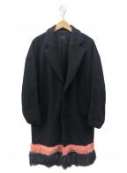 yoshio kubo()の古着「ファー切替チェスターコート」|ブラック