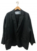 Dulcamara(ドゥルカマラ)の古着「リネンポリエステルオーバージャケット」|グレー