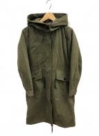 MHL(エムエイチエル)の古着「プルーフェッドコットンポプリンコート」|カーキ