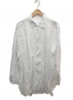 CASEY CASEY(ケーシーケーシー)の古着「コットンリネンロングシャツ」 ホワイト