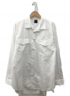 YOHJI YAMAMOTO COSTUME DHOMME(ヨウジヤマモトコスチュームドオム)の古着「ロングフラップポケットシャツ」|ホワイト