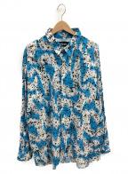 MASSES(マシス)の古着「ペイントオープンカラーシャツ」|ブルー