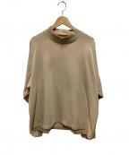 WILLY CHAVARRIA()の古着「モックネックTシャツ」|ベージュ