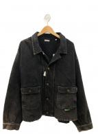 WILLY CHAVARRIA(ウィリーチャバリア)の古着「シルバーレイクラペルデニムジャケット」|ブラック