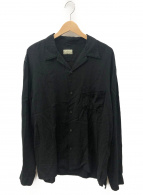 KAPITAL(キャピタル)の古着「ソフトリネン開襟シャツ」|ブラック