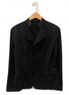 yohji yamamoto+Noir(ヨウジヤマモトプリュスノアール)の古着「ウールギャバカットオフシャツジャケット」|ブラック