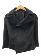 YOHJI YAMAMOTO(ヨウジヤマモト)の古着「アンゴラ混ダブルジャケット」|ブラック
