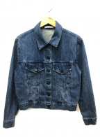 alice+olivia(アリスアンドオリビア)の古着「オーバーサイズクロップドデニムジャケット」 インディゴ