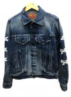 Hysteric Glamour(ヒステリックグラマー)の古着「ELECTRIC LADY SP加工デニムジャケット」|インディゴ