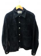WACKO MARIA(ワコマリア)の古着「スウェードトラッカージャケット」|ブラック