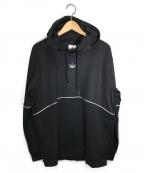 adidas()の古着「アウトライン パーカー」|ブラック
