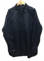 CASEY CASEY(ケーシーケーシー)の古着「製品染めコットンシャツ」 ネイビー