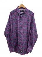 MASSES(マシス)の古着「アラベスクパターンシャツ」|パープル