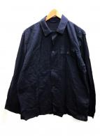 COMOLI(コモリ)の古着「ベタシャンミリタリーシャツ」|ネイビー