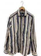 NIGEL CABOURN(ナイジェルケーボン)の古着「ブリティッシュオフィサーズシャツ」|ブルー