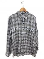 FILL THE BILL(フィルザビル)の古着「テンセルチェックCPOシャツ」|グレー