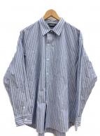 UNUSED(アンユーズド)の古着「ストライプシャツ」|ブルー