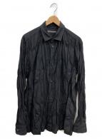 ISSEY MIYAKE MEN(イッセイミヤケメン)の古着「プリーツシワ加工シャツ」|ブラック