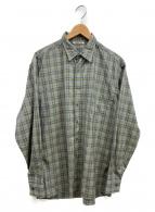 AURALEE(オーラリー)の古着「スーパーライトウールチェックシャツ」|ブルー