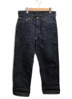 ATLAST & CO(アットラスト)の古着「セルビッチデニムパンツ」|インディゴ
