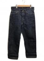 ATLAST & CO(アットラスト)の古着「セルビッチデニムパンツ」 インディゴ