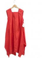 ISSEY MIYAKE(イッセイミヤケ)の古着「ノースリーブワンピース」|オレンジ