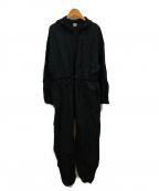 BASERANGE(ベースレンジ)の古着「リネンドロストジャンプスーツ」|グレー